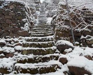 Treppe Schnee